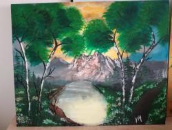 Picturi cu peisaje Mestecenii strajeri