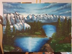 Picturi cu peisaje Sirag de munti