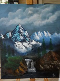 Picturi cu peisaje Varfuri ascutite