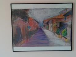 Picturi cu peisaje Strada pitoreasca