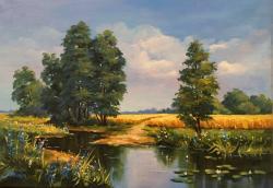 Picturi cu peisaje Amiaza de vara