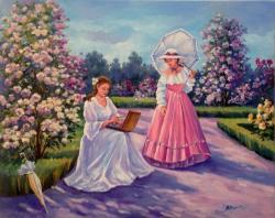Picturi cu peisaje Amintire din parc