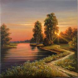 Picturi cu peisaje Liniste pe ape