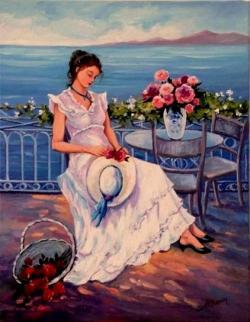 Picturi cu peisaje O zi la mare.