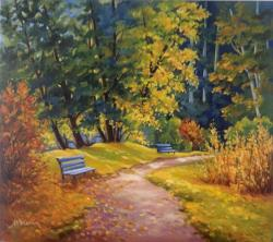 Picturi cu peisaje Octombrie