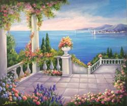 Picturi cu peisaje Peisaj mediteranean 1