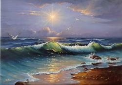 Picturi cu peisaje Valul 01