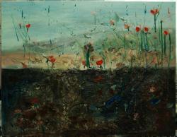 Picturi cu peisaje Camp cu macii