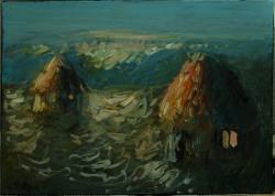 Picturi cu peisaje Interpretare din seria Capite cu fan(Monet)