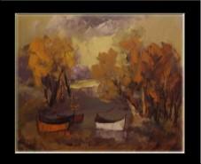 Picturi cu peisaje Toamna tarzie--113