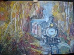 Picturi cu peisaje Trenul