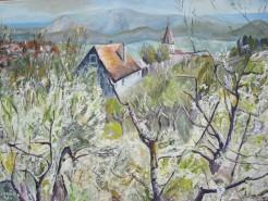 Picturi cu peisaje Cisnadie, casa mea