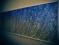 Picturi cu peisaje Primul viscol in iarba la marginea lacului de argint
