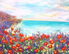 Picturi cu peisaje Tarm cu maci 2