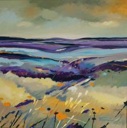 Picturi cu peisaje Rapsodie violet