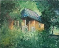 Picturi cu peisaje Pierduta in verde