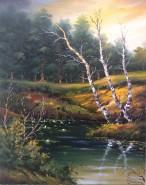 Picturi cu peisaje 3 mesteceni