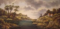 Picturi cu peisaje Amurg dupa furtuna