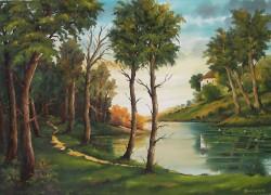Picturi cu peisaje Carare de a lungul apei