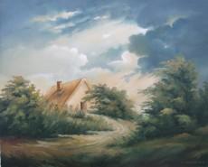 Picturi cu peisaje Casuta din padure 2