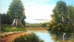 Picturi cu peisaje Colt de natura vara