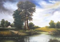 Picturi cu peisaje La marginea satului