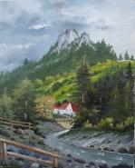 Picturi cu peisaje Moeciu-pensiunea montana 2003