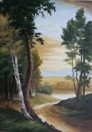Picturi cu peisaje Padure spre lac