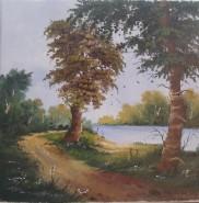 Picturi cu peisaje Pe drum de tara
