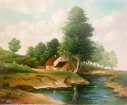 Picturi cu peisaje Peisaj de la tara...