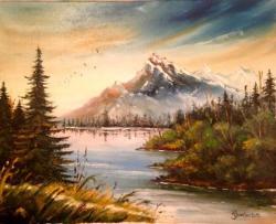 Picturi cu peisaje peisaj in cutit 1