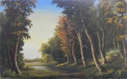 Picturi cu peisaje Raul din padure