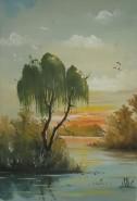Picturi cu peisaje Salcie