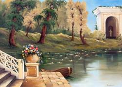 Picturi cu peisaje Templul de pe lac