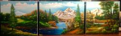 Picturi cu peisaje Triptic peisaj
