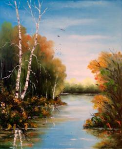 Picturi cu peisaje Un peisaj...