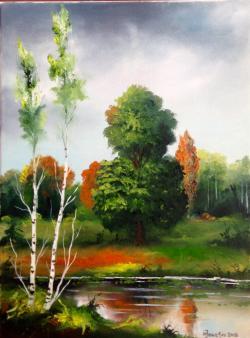 Picturi cu peisaje Un peisaj 1