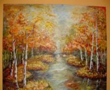 Picturi cu peisaje O toamna linistita