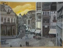 Picturi cu peisaje Bucurestiul interbelic-lipscani