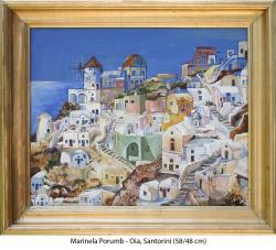 Picturi cu peisaje Oia, Santorini