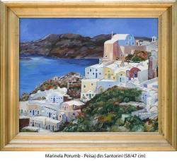 Picturi cu peisaje Peisaj din Santorini