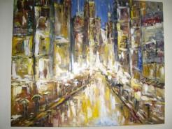Picturi cu peisaje Luminile orasului