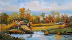 Picturi cu peisaje Delta peisaj2