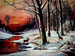 Picturi cu peisaje Iarna1
