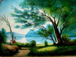 Picturi cu peisaje Peisaj La cules