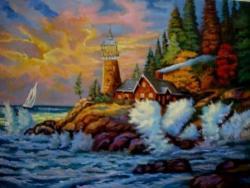 Picturi cu peisaje Peisaj marin01