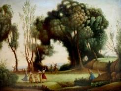 Picturi cu peisaje Tablou dimineata1
