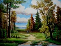 Picturi cu peisaje Tablou inceput de toamna