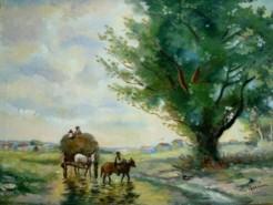 Picturi cu peisaje Tablou intoarcerea de la camp2