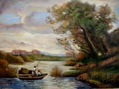 Picturi cu peisaje Tablou la pescuit